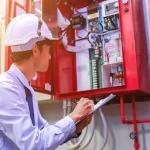 Manutenção de alarme de incendio